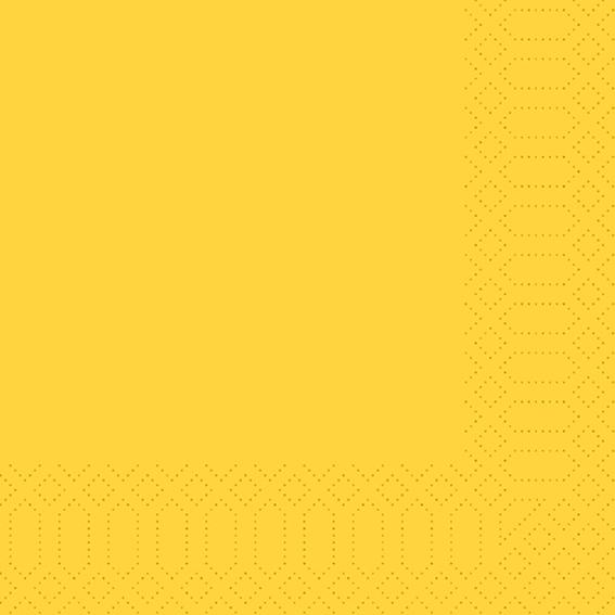 Duni Napkins Tissue Yellow 40x40 3 Ply 250p