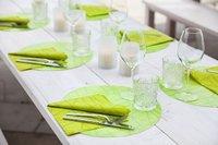 Duni d coration de table set silikon dunishop - Set de table silicone duni ...