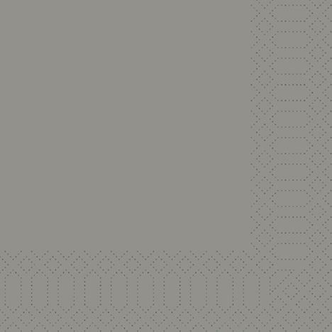 uni granite grey 3lg Serviette 1//4falz,250Stk Zelltuchserviette Duni 33x33cm