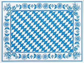 Dunicel Placemats Bayer. Raute 30x40 100p.