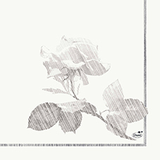 Zelltuch Servietten Grey Rose 33x33 3lag 50St.