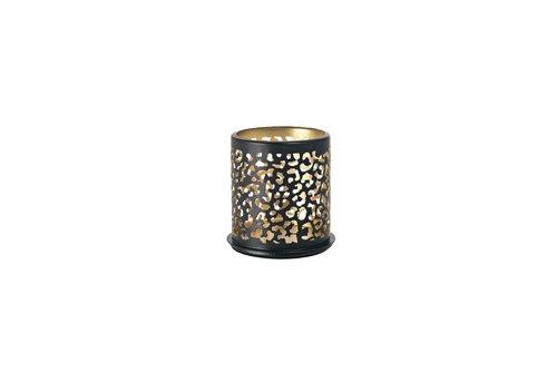 Duni Kerzenhalter Bliss silber aus Metall für Maxi-Teelichte oder LED 140x75mm